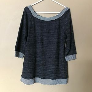 Maurices Gray Striped Thermal Top, XL